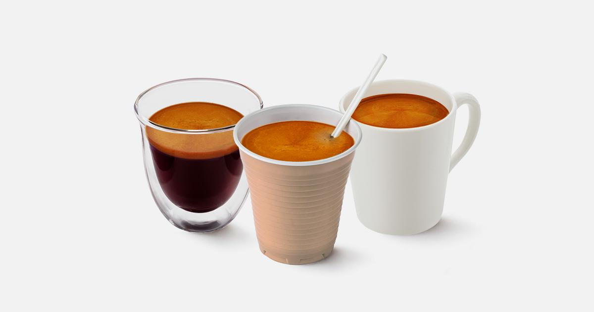 Tazzina per Caffè in Ceramica, Vetro e Plastica